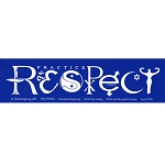 S090 - Respect Word Symbol SymbolGlyphics Yin-YAng Women Goddess Bumper Sticker