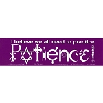 S099 - Patience SymbolGlyphs Bumper Sticker