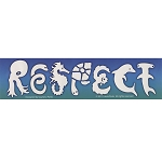 CM070 - RESPECT Sea Life Mini Bumper Sticker