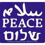 S114 - Peace in Languages Bumper Sticker