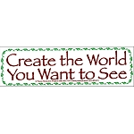 S117 - Create the World Bumper Sticker