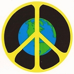 S123 - Earth Peace Bumper Sticker