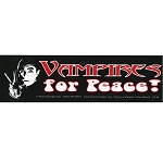 S146 - Vampires for Peace! Large Bumper Sticker