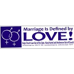 S147 - Marriage Defined by Love Bumper Sticker