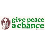 S154 - Give Peace a Chance Bumper Sticker