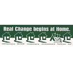 S160 - Real Change Large Bumper Sticker