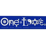 S161 - One Love SymbolGlyphs Bumper Sticker