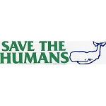 MS242 - Save the Humans Mini Sticker