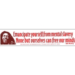 S187 - Emancipate Yourself From Mental Slavery... Bob Marley Quote Bumper Sticker