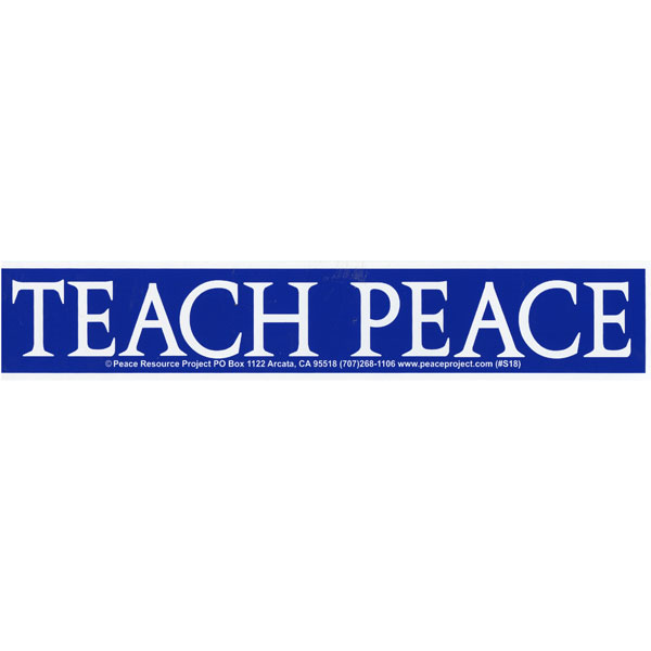Home shop by item stickers large bumper stickers s195 teach peace bumper sticker