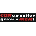 S201 - CONservative GovernMENt Bumper Sticker