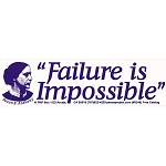 S236 - Failure is Impossible Bumper Sticker