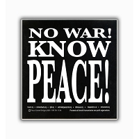 S248 - No War! Know Peace! Bumper Sticker