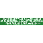 S252 - Never Doubt Large Bumper Sticker