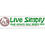 S324 - Live Simply That others May Simply Live Bumper Sticker
