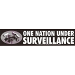 S328 - One Nation Under Surveillance Bumper Sticker