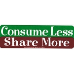 S348 - Consume Less Share More Bumper Sticker