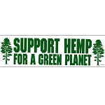 S354 - Support Hemp for a Green Planet Bumper Sticker