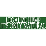 S357 - Legalize Hemp it's Only Natural Bumper Sticker