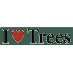 S411 - I Love Trees Bumper Sticker