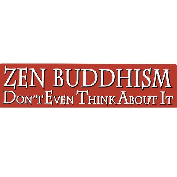 S429 zen buddhism bumper sticker