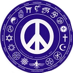 S435 - Interfaith Peace Round Bumper Sticker