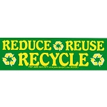 S436 - Reduce - Reuse - Recycle Bumper Sticker
