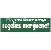 MS179 - Fix the Economy: Legalize Marijuana Mini Bumper Sticker