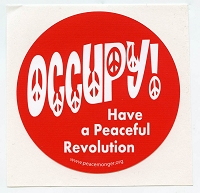 S458 - 99% > 1% Occupy Wall Street Bumper Sticker
