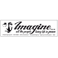 MS228 - Imagine all the People Living Life in Peace Mini Bumper Sticker