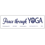 S466 - Peace Through Yoga Bumper Sticker