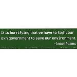 S500 - It is horrifying that we have to fight our own government Bumper Sticker