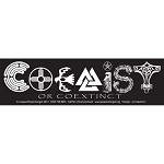 S544 - Coexist or Coextinct Large Bumper Sticker