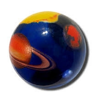 PG015 - Solar System Marble, 1.4 Inch