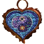 SC004 - Dolphin Yin Yang Heart Copper Sun Catcher
