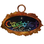 SC001 - Coexist Rainbow Universe Copper Sun Catcher