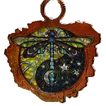 SC002 - Yin Yang Dragonfly Copper Sun Catcher