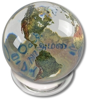 SV06 - Peace in 37 Languages Crystal Globe