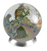 SV07 - Peace in 37 Languages Crystal Globe