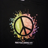 T068BLK - Make Peace Through Art T-shirt