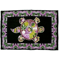 TA23 - Psychedelic Terrapin Turtle Tapestry Bedspread Cotton Grateful Dead
