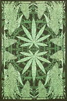 TA36 - Hempest Cannabis Leaf Large Tapestry