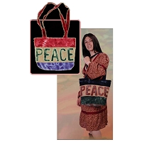 TB006 - Peace Word Shoulder Bag