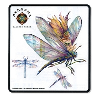 A160 Bergsma Dragon Rider Fairy Dragonfly Mythology Decal Cut Out Sticker