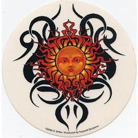 A174 - Tribal Sun Art Decal Window Sticker