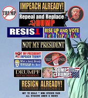 CM281 - IMPEACH DONALD TRUMP 13 Mini Sticker Pack -  IMPEACHMENT HEARING NOT MY PRESIDENT