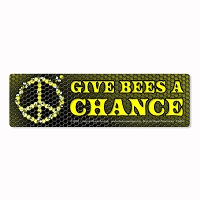 CS461 Peacemonger Original Give Bees A Chance Peace Environmental Anti GMO Digital Print Bumper Sticker