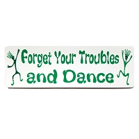 MS85 - Forget Your Troubles and Dance Happy Dancing Tribal Freaks Mini Sticker