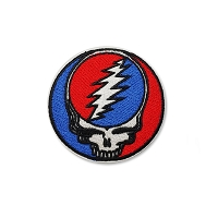 P256 Grateful Dead Steal Your Face SYF Small Embroidered Iron On Patch