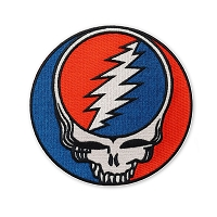 P257 Grateful Dead Steal Your Face SYF Large Embroidered Iron On Patch